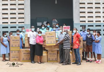 Donation of PPEs to School for the Blind, Akropong